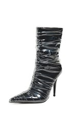 Jeffrey Campbell Plastify 2 Point Toe Boots Black Clear