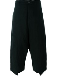 Individual Sentiments Loose Fit Cropped Trousers Black