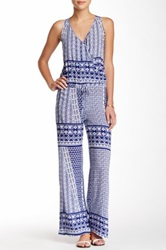 Green Dragon Voyage Printed Jumpsuit Blue