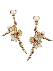 Shaun Leane 'Cherry Blossom' Earrings Metallic