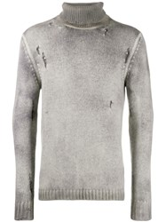 Avant Toi Sweatshirt With Distressed Details Grey