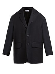 Raey Soft Tailored Single Breasted Wool Twill Blazer Black