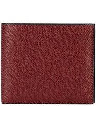Valextra Foldover Wallet Red