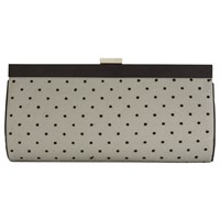 Jacques Vert Spotty Clutch Bag Black