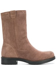 Geox Smooth Ankle Boots Nude And Neutrals