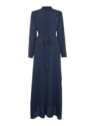 Shorso Uk Maxi Shirt Abaya Kaftan Dress Navy