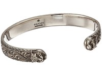 Gucci Gatto Bangle Aged Silver