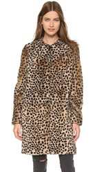 Loeffler Randall Long Cheetah Shearling Coat Cheetah Cheetah