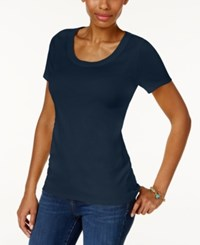 Charter Club Cotton Scoop Neck T Shirt Only At Macy's Intrepid Blue