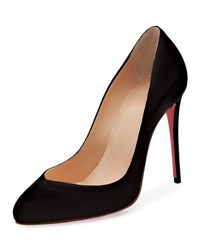 Christian Louboutin Breche Leather 100Mm Red Sole Pump Black