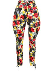 Chanel Vintage Floral Tailored Trousers Multicolour