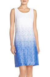 Women's Maia Sequin Stretch Tank Dress Blue White