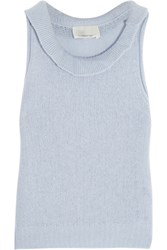 3.1 Phillip Lim Cropped Wool Blend Tank Sky Blue