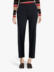 Betty Barclay Crepe Straight Leg Trousers Dark Sky