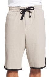 James Perse Drawstring Basketball Shorts Shadow
