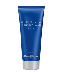 Salvatore Ferragamo Acqua Essenziale Blu 6.8 Oz Shampoo And Shower Gel No Color