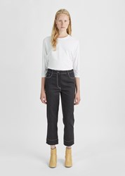Nehera Straight Cropped Jeans Graphite Black