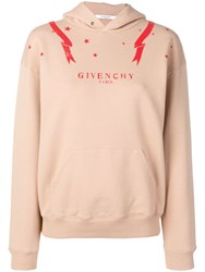 Givenchy Front Logo Hoodie Neutrals