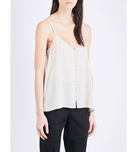 The Kooples Buttoned Silk Camisole Nud01