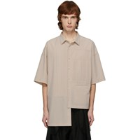 Ziggy Chen Off White Cotton Short Sleeve Shirt