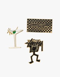 Stussy Ho16 Pin Set Assorted Colors