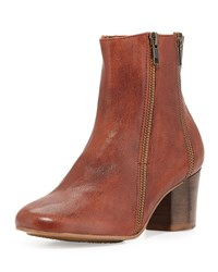 Gentle Souls Lexington Leather Ankle Boot Cayenne Red