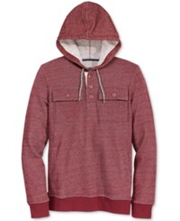 American Rag Men's Dual Pocket Fleece Hoodie Only At Macy's Burgundy