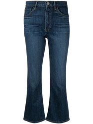 3X1 Cropped Flared Jeans Blue