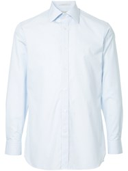 Gieves And Hawkes Micro Check Shirt Blue