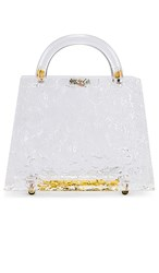 Amber Sceats Mini Top Handle Bag In White. Clear