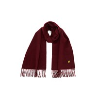 Lyle And Scott Men's Lambs Wool Scarf Claret Jug