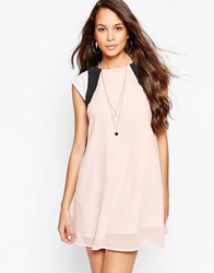 Pussycat London Color Block Swing Dress Pink
