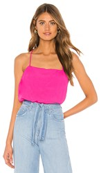 Show Me Your Mumu Adrian Top In Pink. Hot Pink