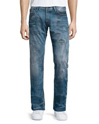 Prps Barracuda Distressed And Faded Denim Jeans Blue