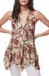 Free People Women's Purple Haze Floral Tunic