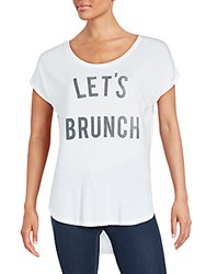 Signorelli Let's Brunch T Shirt White