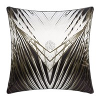 Roberto Cavalli Limited Edition Charlize Cushion Grey Grey Black And White