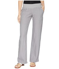 Allen Allen Linen Long Pant Pale Grey Casual Pants Gray