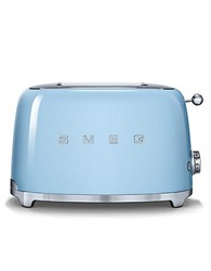 Smeg Two Slice Wide Slot Toaster Blue Pastel Blue