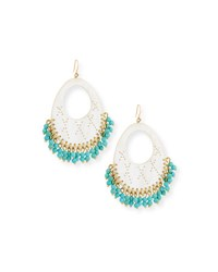 Ashley Pittman Vuka Turquoise Beaded Earrings Light Horn Multi