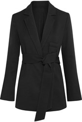Toteme Stary Belted Crepe Blazer Black