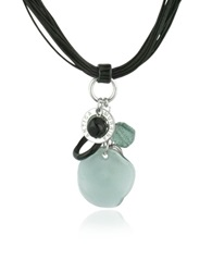 Antica Murrina Veneziana Kali' Murano Glass Charm Pendant Necklace Gray