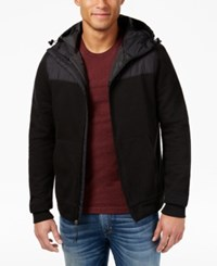 American Rag Men's Colorblocked Full Zip Hoodie Only At Macy's Deep Black