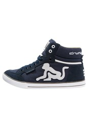 Drunknmunky Boston Classic Hightop Trainers Navy Dark Blue