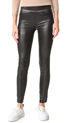 Kaufman Franco Stretch Leather Leggings Onyx