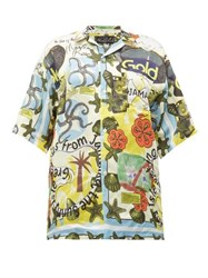 Martine Rose Jamaika Print Twill Shirt Multi