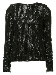 Rachel Gilbert Sequined Dinah Top Black