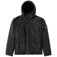 Stone Island Micro Reps Insulated Hooded Jacket Black