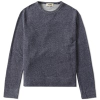 Ymc Marl Crew Sweat Blue