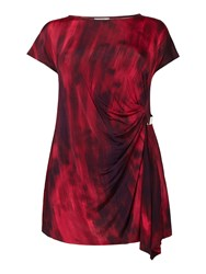 Persona Vita Short Sleeved Drape Jersey Top Fuchsia